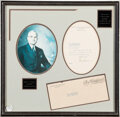 Autographs:U.S. Presidents, Harry Truman Typed Letter Signed as Vice President. ...