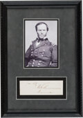 Autographs:Military Figures, William Sherman Clipped Signature. ...
