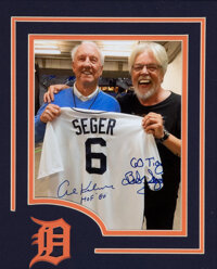 Bob Seger & Alto Reed Signed Detroit Tigers Jersey Display & Seger and Al Kaline Dual-Signed Photograph from The...