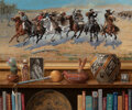 Paintings, Jenness Cortez (American, b. 1944). A Tale of Two Cultures, 2005. Oil on panel. 30 x 36 inches (76.2...