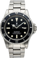 """Timepieces:Wristwatch, Rolex, Steel """"Great White"""" Sea-Dweller Oyster Perpetual Date, circa 1973. ..."""