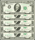 Small Size:Federal Reserve Notes, Fr. 2016-B $10 1963 Federal Reserve Notes. Five Consecutive Examples. Choice About Uncirculated.. ... (Total: 5 notes)