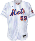 Baseball Collectibles:Uniforms, 2021 Carlos Carrasco Game Worn New York Mets Jersey, MLB Authentic 9/26 vs. Giants. ...
