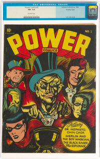 Power Comics #3 Crowley Copy Pedigree (Holyoke Publications, 1944) CGC FN- 5.5 Off-white pages