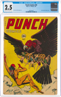 Punch Comics #20 (Chesler, 1947) CGC GD+ 2.5 Cream to off-white pages