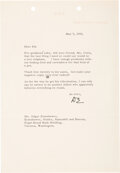 Autographs:U.S. Presidents, Dwight D. Eisenhower Typed Letter Signed as President. ...