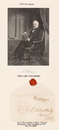 Autographs:U.S. Presidents, Millard Fillmore Free Franked Cover as Vice President. ...