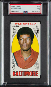1969 Topps Wes Unseld #56 PSA NM 7