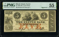 Exeter, RI- Exeter Bank $5 18__ G16a Durand 416 Remainder PMG About Uncirculated 55