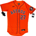 Baseball Collectibles:Uniforms, 2021 Jose Altuve Signed Houston Astros Jersey, MLB Authentic. ...