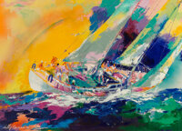 LeRoy Neiman (American, 1921-2012) Hawaiian Sailing, 1983 Oil on canvas 30 x 42 inches (76.2 x 106.7 cm) Signed and