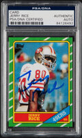 Autographs:Sports Cards, Signed 1986 Topps Jerry Rice #161 PSA/DNA Authentic....