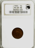 Indian Cents, 1890 1C MS65 Red and Brown NGC. Eagle Eye Photo Seal. NGC Census:(70/0). PCGS Population (20/1). Mintage: 57,182,856. Numi...