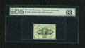 Fr. 1242 10c First Issue PMG Choice Uncirculated 63 EPQ