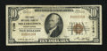 National Bank Notes:Pennsylvania, Millerstown, PA - $10 1929 Ty. 1 The First NB Ch. # 7156. ...