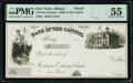 Albany, NY- Bank of the Capital Check 18__ Remainder PMG About Uncirculated 55