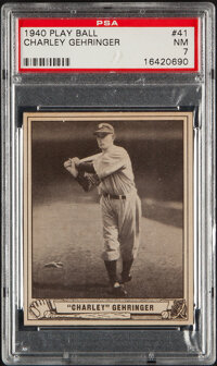 1940 Play Ball Charley Gehringer #41 PSA NM 7