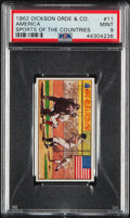 """Baseball Cards:Singles (1960-1969), 1962 Dickson Orde & Co """"Sports Of The Countries"""" Babe Ruth #11 PSA Mint 9...."""