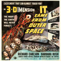 """Movie/TV Memorabilia:Posters, It Came from Outer Space (Universal International, 1953). Very Fine- on Linen. Six Sheet (81"""" X 81"""") 3-D Style, Josep..."""