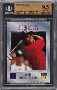 1996 Sports Illustrated for Kids Tigers Woods #536 BGS Gem Mint 9.5