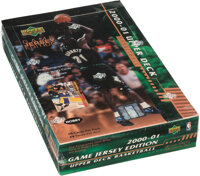 2000-01 Upper Deck Basketball Series 2 Game Jersey Edition Hobby Factory Sealed Box