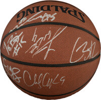 2004-05 Los Angeles Lakers Team Signed Basketball - With Kobe Bryant