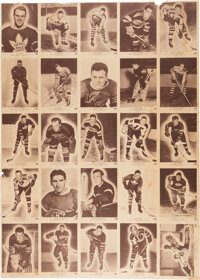 1940-41 V301-2 O-Pee-Chee Hockey Advertising Poster with Complete Set - Super Rare!