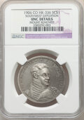 1906 Medal Southwest Expedition, Pike's Peak Centennial, HK-336, R.4, -- Mount Removed -- NGC Details. Unc. Silver gray-...
