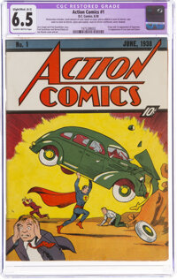 Action Comics #1 (DC, 1938) CGC Apparent FN+ 6.5 Slight/Moderate (A-2) Slightly brittle pages