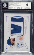 Baseball Cards:Singles (1970-Now), 2016 National Treasures Colossal Materials Clayton Kershaw (Prime Team Patch) #C-CK BGS Mint 9 - Serial Numbered 1/1....