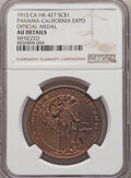 1915 Medal Panama-California Exposition, Official Medal, Gilt, HK-427, R.6, -- Whizzed -- NGC Details. AU