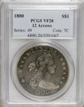 Early Dollars: , 1800 $1 12 Arrows VF20 PCGS. PCGS Population (3/38). (#6890)...