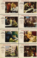"""Movie Posters:Hitchcock, Rear Window (Paramount, 1954). Lobby Card Set of 8 (11"""" X 14""""). Cards #1, 2, and 3 each have pinholes in the corners, and ca... (Total: 8 Item)"""