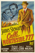 "Movie Posters:Film Noir, Call Northside 777 (20th Century Fox, 1948). One Sheet (27"" X 41"").This is a gripping, documentary-style drama about a repo..."