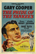 "Movie Posters:Sports, The Pride of the Yankees (RKO, R-1949). One Sheet (27"" X 41""). A rare instance of the re-issue poster being more desirable t..."