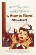"""Movie Posters:Musical, A Star Is Born (Warner Brothers, 1954). One Sheet (27"""" X 41""""). This 1954 musical remake starred Judy Garland, who was making..."""