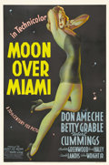"Movie Posters:Musical, Moon Over Miami (20th Century Fox, 1941). One Sheet (27"" X 41"")Style A. Alberto Vargas is often credited with creating the ..."