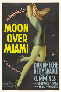 "Moon Over Miami (20th Century Fox, 1941). One Sheet (27"" X 41"") Style A. Alberto Vargas is often credited with..."