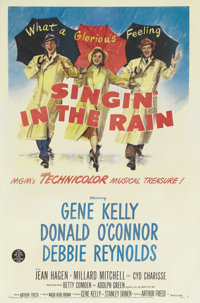 "Singin' in the Rain (MGM, 1952). One Sheet (27"" X 41""). The high point in the careers of everyone involved wit..."