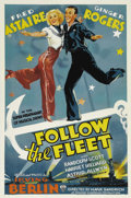 "Movie Posters:Musical, Follow the Fleet (RKO, 1936). One Sheet (27"" X 41""). Fred Astaireand Ginger Rogers starred together in ten films, most of t..."