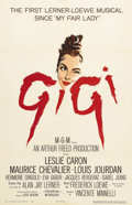 """Movie Posters:Musical, Gigi (MGM, 1958). One Sheet (27"""" X 41""""). This Vincente Minnelli directed romantic musical Stars Leslie Caron, Maurice Cheval..."""