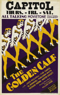 "Movie Posters:Musical, The Golden Calf (Fox, 1930). Window Card (14"" X 22""). Drabsecretary (Sue Carol) leads a boring life until a good friendint..."