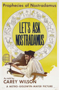 "Movie Posters:Short Subject, Let's Ask Nostradamus (MGM, 1953). One Sheet (27"" X 41"").Fantastic-looking poster for this very rare MGM short subjectabou..."