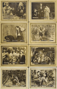 "The Son of Tarzan (National, 1920). Lobby Cards (8) (11"" X 14""). Jinxed from beginning to end, this serial had..."