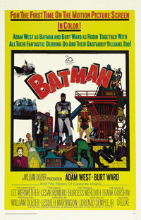 "Batman (20th Century Fox, 1966). One Sheet (27"" X 41""). Adam West and Burt Ward as Batman and Robin take on th..."