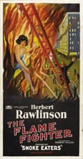 "Movie Posters:Serial, The Flame Fighter (Rayart Pictures, 1925). Three Sheet (41"" X 81"").Episode One -- ""Smoke Eaters."" Fireman Herbert Rawlinson..."