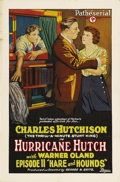 """Movie Posters:Serial, Hurricane Hutch (Pathe', 1921). One Sheet (27"""" X 41""""). Chapter 11-- """"Hare and Hounds"""". This beautiful stone litho poster fo..."""