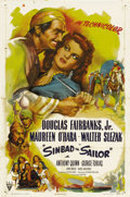 "Movie Posters:Adventure, Sinbad the Sailor (RKO, 1946). One Sheet (27"" X 41"") Style A.Douglas Fairbanks, Jr. nostalgically emulates his famous fathe..."