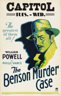 "Movie Posters:Mystery, The Benson Murder Case (Paramount, 1930). Window Card (14"" X 22"").William Powell stars as S.S. Van Dine's amateur detective..."