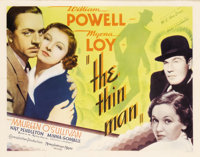 """The Thin Man (MGM, 1934). Half Sheet (22"""" X 28""""). William Powell and Myrna Loy made their first appearance as..."""